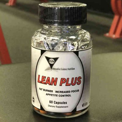 lean plus fat burner for working out and burning fat in plastic bottle